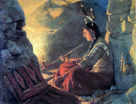 William Gilbert Gaul Indian Meditation - Canvas Art Print