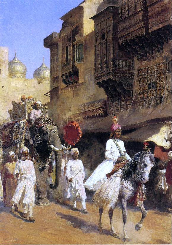 Edwin Lord Weeks Indian Prince and Parade Ceremony - Canvas Art Print
