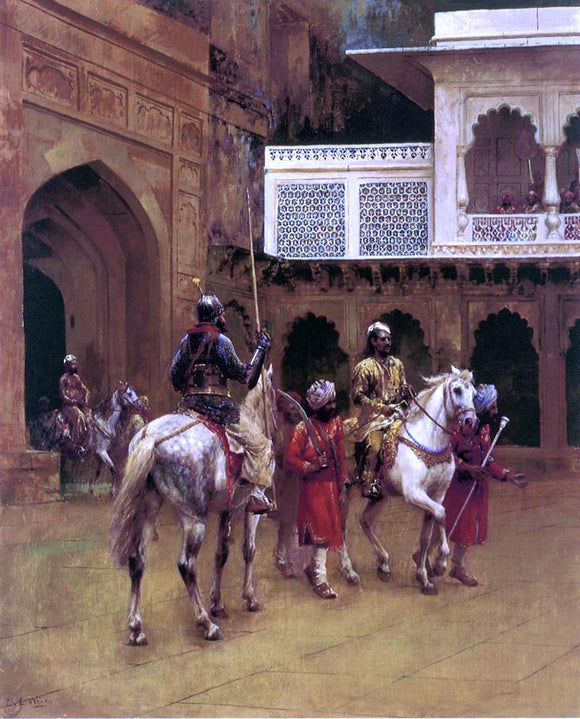 Edwin Lord Weeks Indian Prince, Palace of Agra - Canvas Art Print