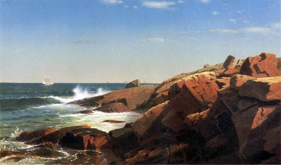 William Stanley Haseltine Indian Rock, Narragansett, Rhode Island - Canvas Art Print