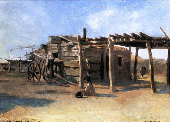 George A McKinstry Indian Village, Dakota - Canvas Art Print