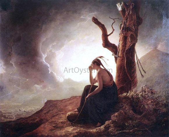 Joseph Wright Indian Widow - Canvas Art Print