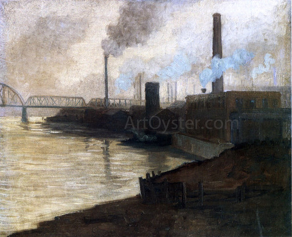 Aaron Harry Gorson Industrial Scene - Mills on the Monongahela - Canvas Art Print