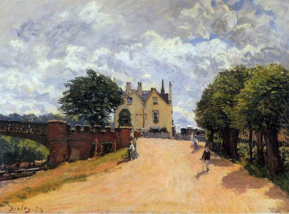 Alfred Sisley Inn at East Molesey with Hampton Court Bridge - Canvas Art Print