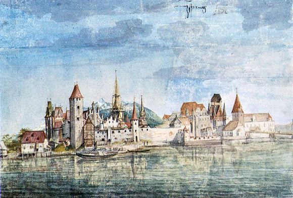 Albrecht Durer Innsbruck Seen from the North - Canvas Art Print