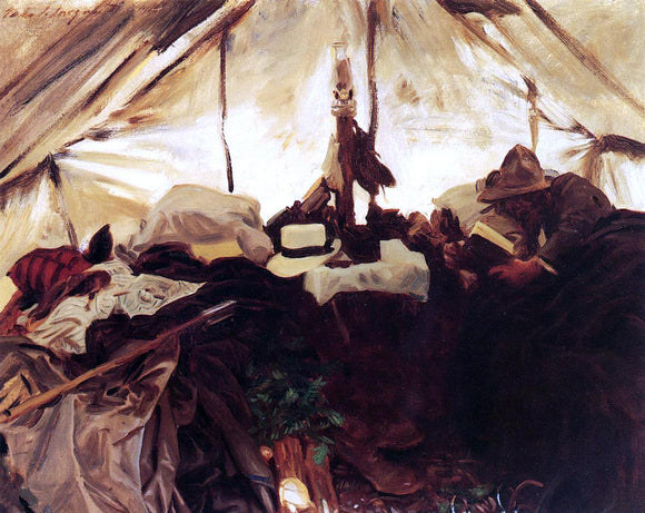 John Singer Sargent Inside a Tent in the Canadian Rockies - Canvas Art Print