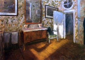 Edgar Degas Interior at Menil-Hubert - Canvas Art Print