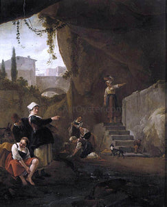 Thomas Wijck Interior of a Cave - Canvas Art Print