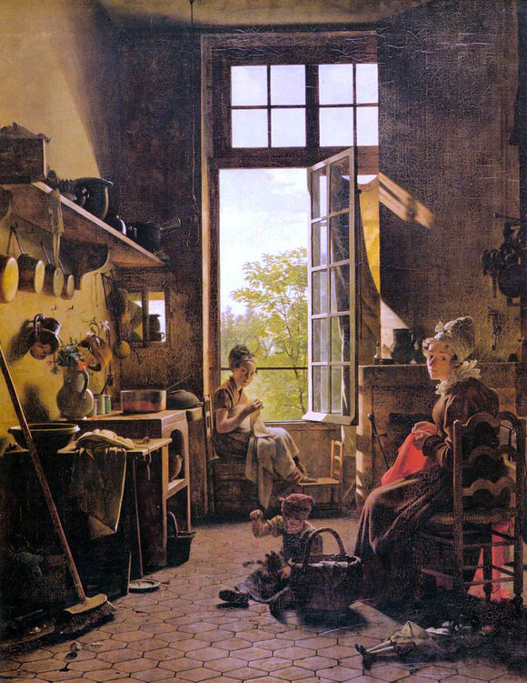 Martin Drolling Interior of a Kitchen (detail) - Canvas Art Print