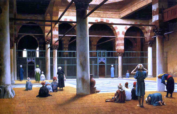 Jean-Leon Gerome Interior of a Mosque - Canvas Art Print