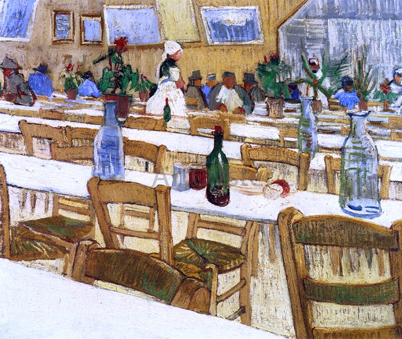 Vincent Van Gogh Interior of a Restaurant - Canvas Art Print