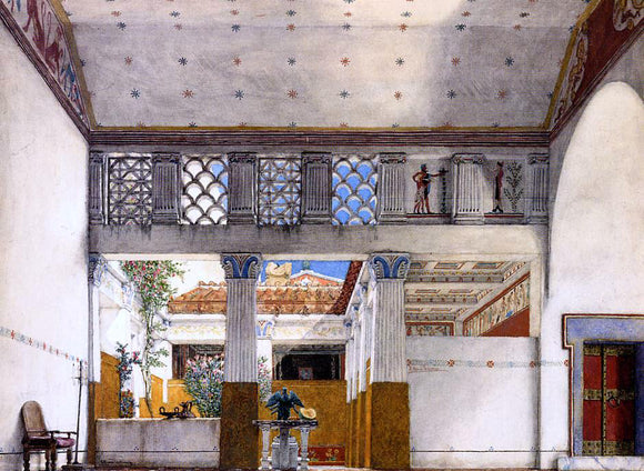 Sir Lawrence Alma-Tadema Interior of Caius Martius's House - Canvas Art Print