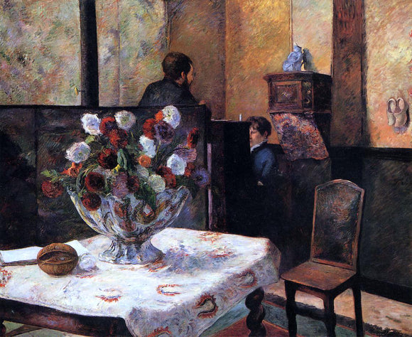 Paul Gauguin Interior of the Painter's House, rue Carcel - Canvas Art Print