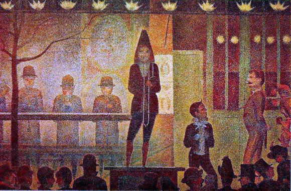 Georges Seurat Invitation to the Sideshow - Canvas Art Print