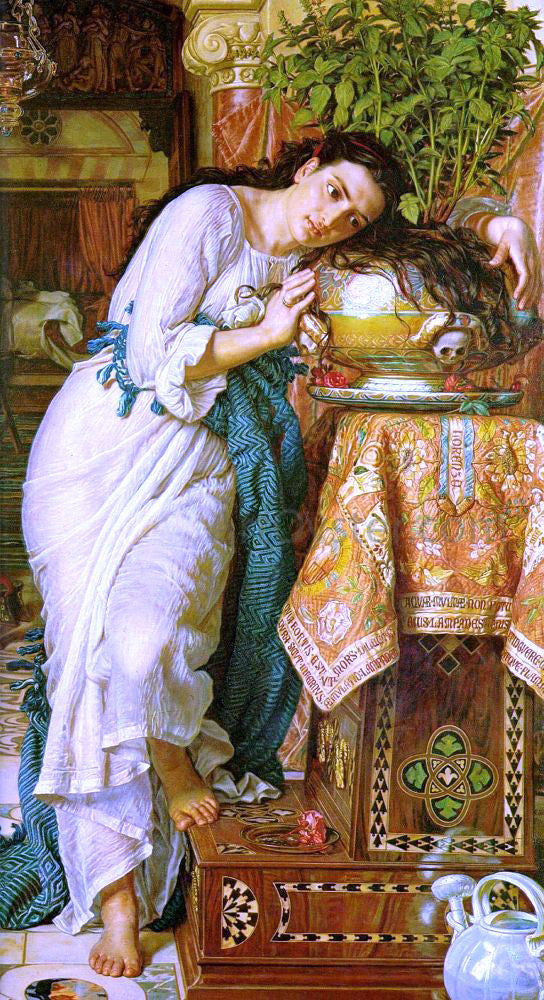 William Holman Hunt Isabella and the Pot of Basil - Canvas Art Print