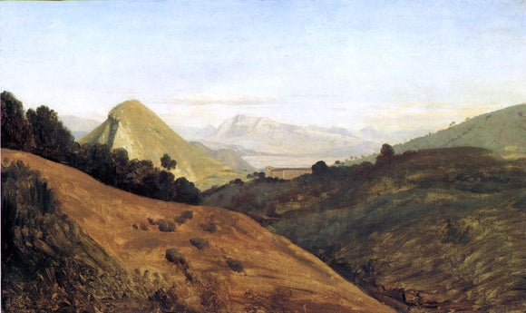 Theodore d Aligny Italian Hills at Dawn - Canvas Art Print