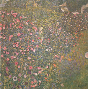 Gustav Klimt Poppy Field - Canvas Art Print