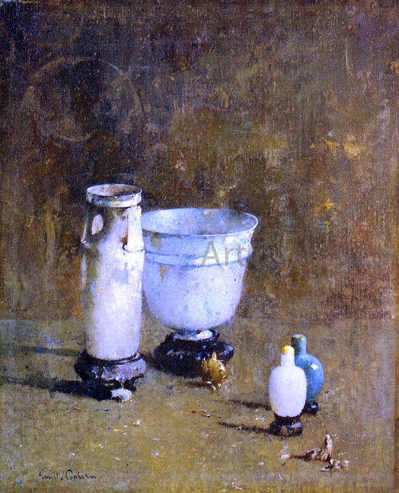Emil Carlsen Jade and Ancient Glass - Canvas Art Print