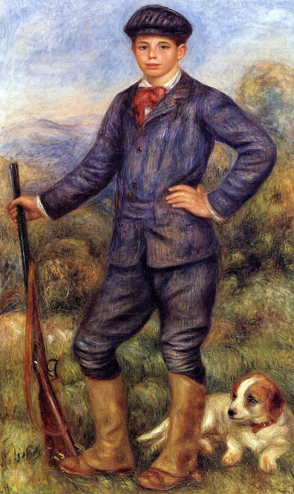 Pierre Auguste Renoir Jean Renoir as a Hunter - Canvas Art Print