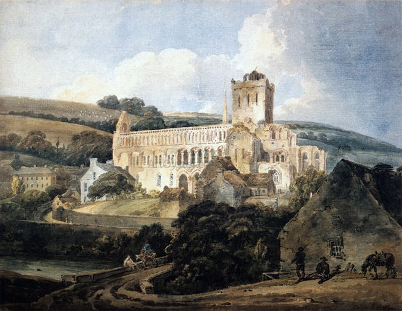 Thomas Girtin Jedburgh Abbey from the South-East - Canvas Art Print