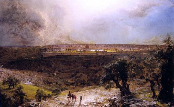 Frederic Edwin Church Jerusalem from the Mount of Olives - Canvas Art Print