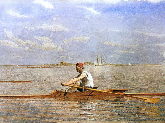 Thomas Eakins John Biglin in a Single Scull - Canvas Art Print