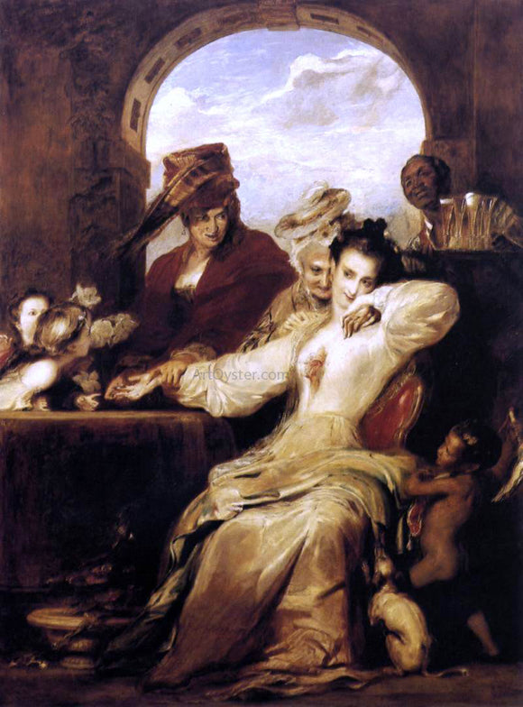 Sir David Wilkie Josephine and the Fortune-Teller - Canvas Art Print