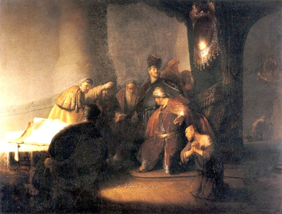 Rembrandt Van Rijn Judas Repentent, Returning the Pieces of Silver - Canvas Art Print