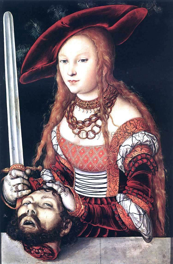 The Elder Lucas Cranach Judith with the Head of Holofernes - Canvas Art Print