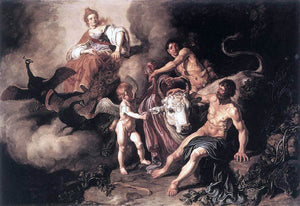 Pieter Lastman Juno Discovering Jupiter with Io - Canvas Art Print