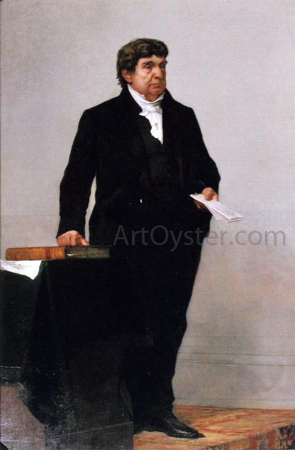 William Morris Hunt Justice Lemuel Shaw - Canvas Art Print