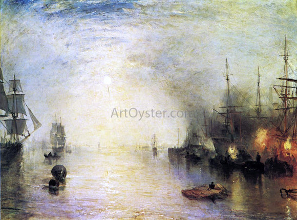 Joseph William Turner Keelmen Heaving in Coals by Night - Canvas Art Print