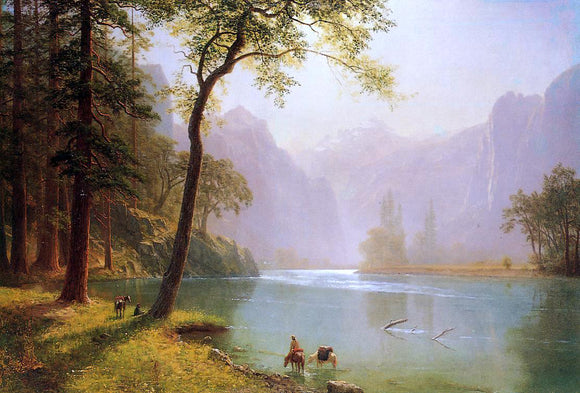 Albert Bierstadt Kern River Valley, California - Canvas Art Print