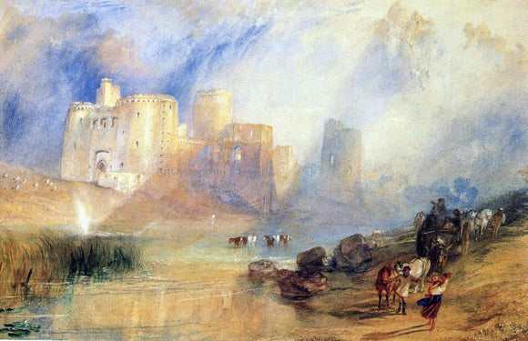 Joseph William Turner Kidwelly Castle - Canvas Art Print