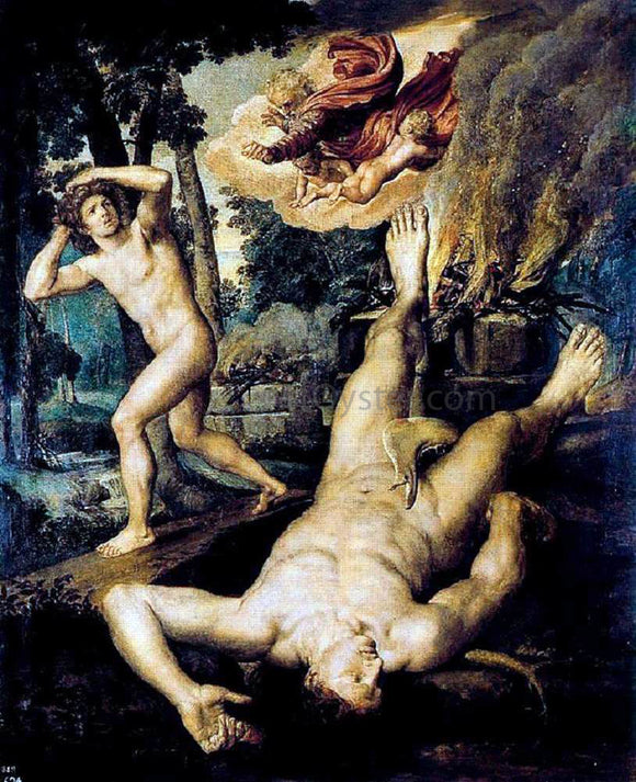 Michiel Van Coxcie Killing of Abel - Canvas Art Print
