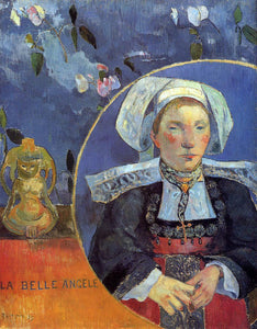 Paul Gauguin La Belle Angele (also known as Madame Angele Satre, the Inkeeper at Pont-Aven) - Canvas Art Print