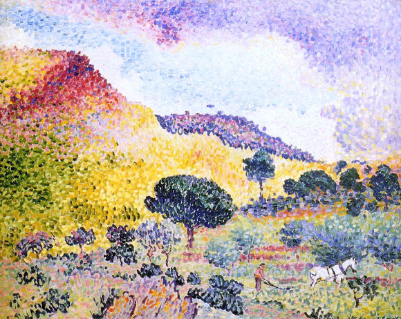 Henri Edmond Cross La Chaine des Maures - Canvas Art Print