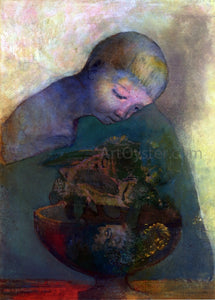 Odilon Redon La Coupe du Devenir (also known as L'Enfant a la Coupe) - Canvas Art Print