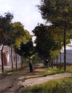 Camille Pissarro La Route - Canvas Art Print