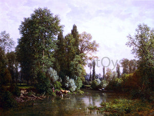 Louis Hector Pron La Seine - Canvas Art Print