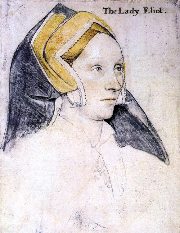 The Younger Hans Holbein Lady Elyot - Canvas Art Print