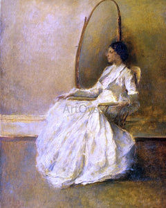Thomas Wilmer Dewing Lady in White (No. 1) - Canvas Art Print