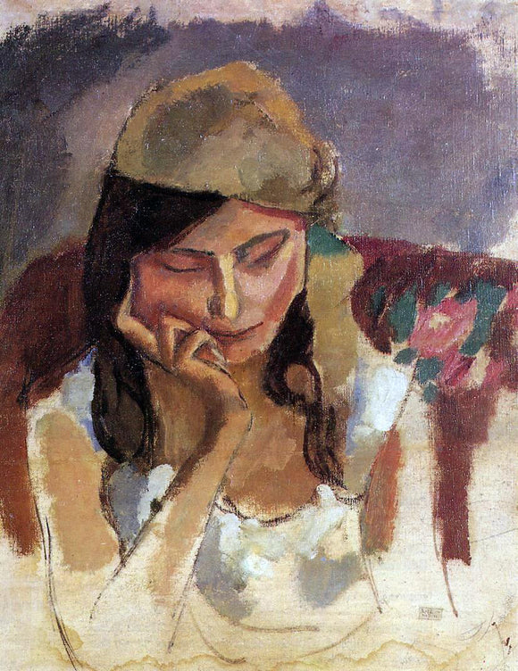 Jules Pascin Lady Wearing a Turban - Canvas Art Print