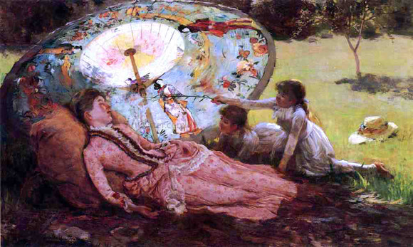 Hamilton Hamilton Lady with a Parasol - Canvas Art Print
