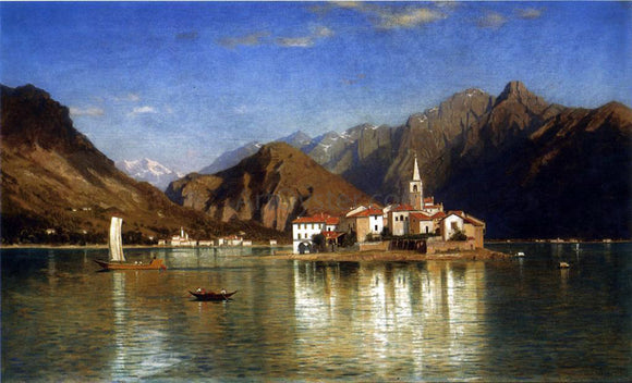 William Stanley Haseltine Lago Maggiore - Canvas Art Print