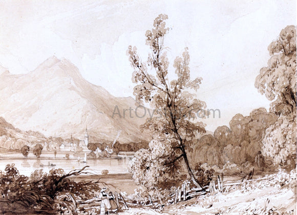 Richard Parkes Bonington Lake Brientz and Interlaken - Canvas Art Print