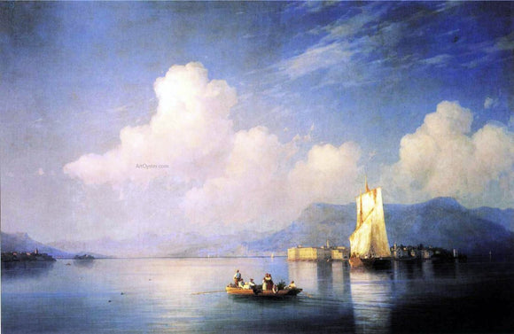 Ivan Constantinovich Aivazovsky Lake Maggiore in the Evening - Canvas Art Print