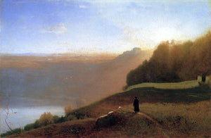George Inness Lake Nemi - Canvas Art Print