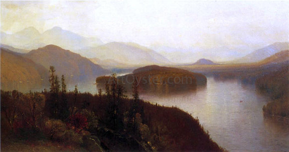 Jr. Samuel Colman Lake Placid, Adirondacks - Canvas Art Print