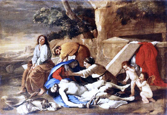Nicolas Poussin Lamentation over the Body of Christ - Canvas Art Print